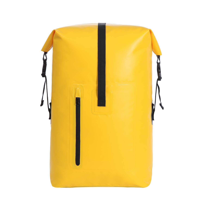 40L Sac /à dos /étanche Roll Top Dry Bag avec poche /à glissi/ère devant Ultralight Sports de plein air en plein air Randonn/ée Voyage Alpinisme Navigation de plaisance P/êche Kayak Natation Rafting