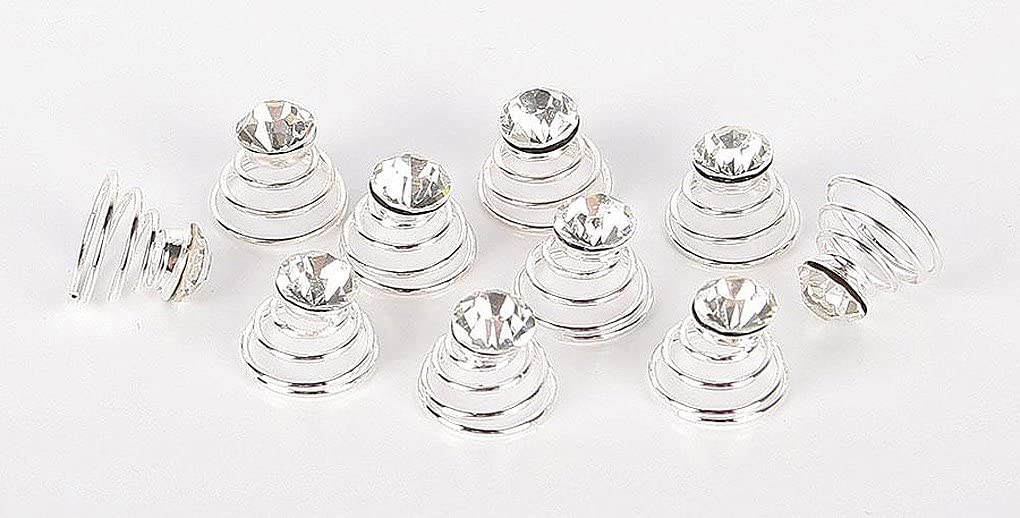 Amesbichler Kristal Curly Set con 10Pieza Crin Vertebral Pelo Espiral Brillantes Crin Banda