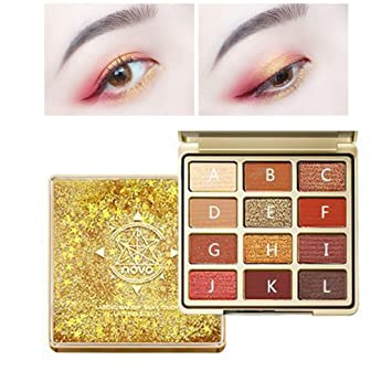 New Hot Popular 12 Color Marble Eyeshadow Palette Professional Fashion Makeup Eye Shadow Palette Cosmetic Set Eye Shadow Beauty Beauty & Health