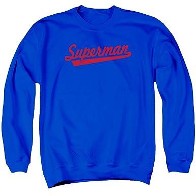 69c4ce37f Superman S Tail 2X Crewneck Sweatshirt Royal Blue Adult Men's Unisex  Sweatshirt
