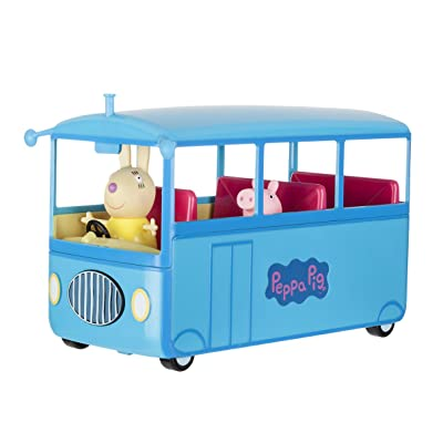 Peppa Pig's School Bus Deluxe Vehicle: Toys & Games