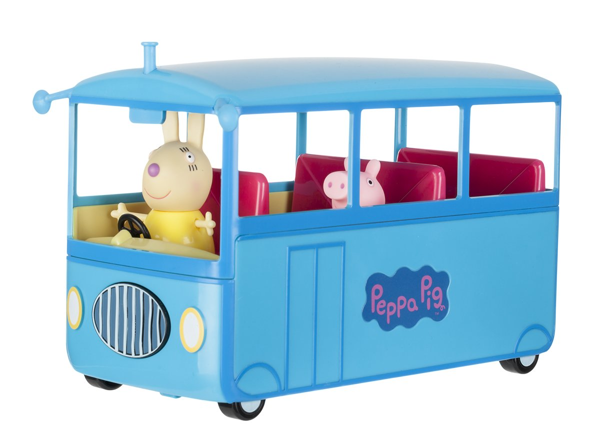 Peppa Pig Autobú s del Cole, Color Azul, (Bandai 92637)