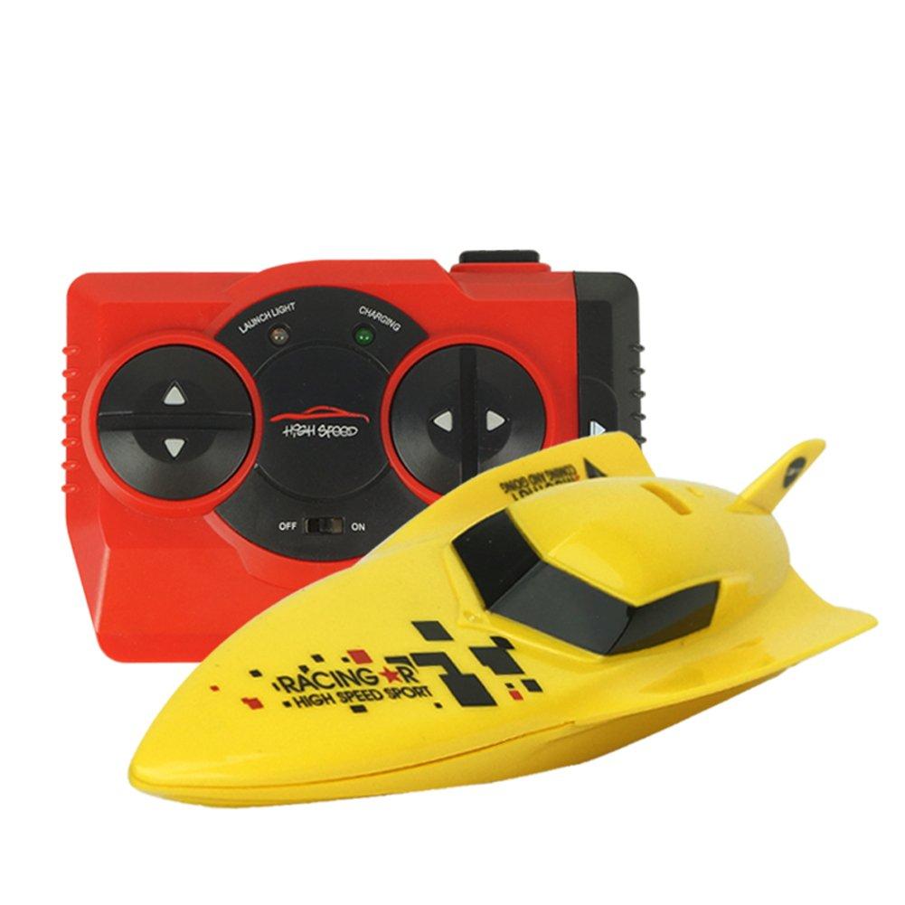 CYNDIE 2.4G barco de velocidad a control remoto barco de juguete a prueba de agua Mini RC Racing Boats regalo para niños