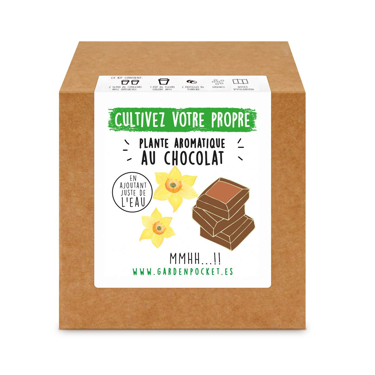 Garden Pocket - Kit de Culture de PLANTE AROMATIQUE AU CHOCOLAT