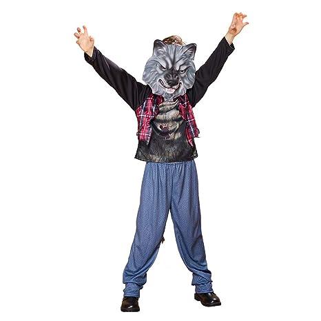 EraSpooky Traje de Hombre Lobo Disfraz Máscara Cosplay Traje ...