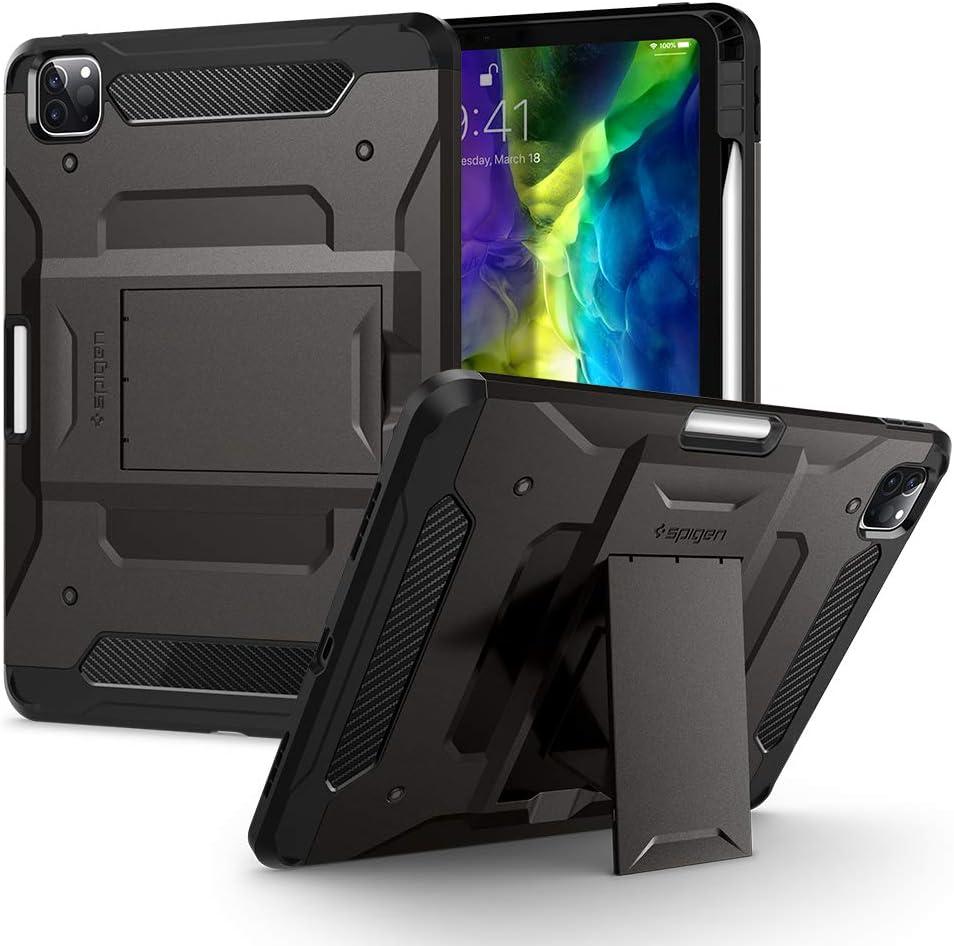 Spigen Tough Armor Pro Designed for iPad Pro 11 Case 2020 & 2018 with Pencil Holder - Gunmetal