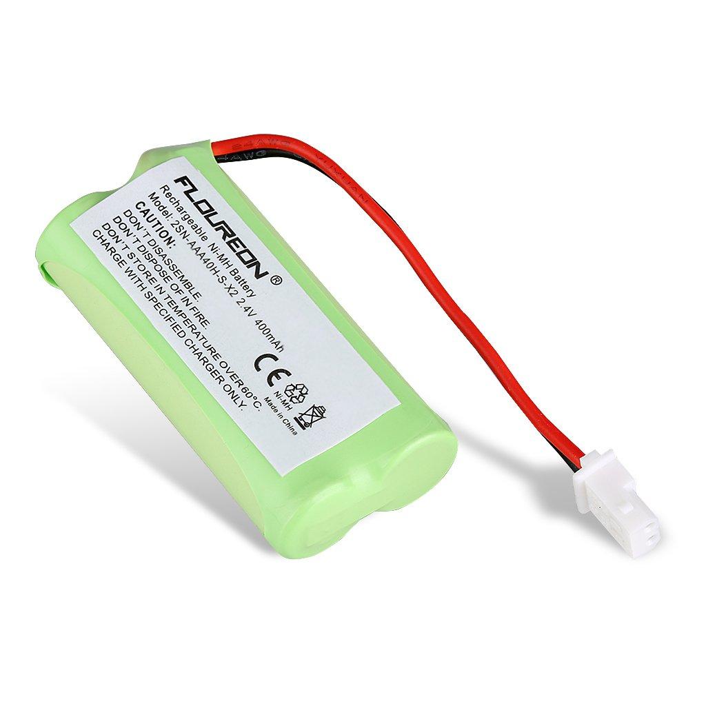 FLOUREON 3-Pack 2.4V 400mAh Cordless Home Phone Battery for AT&T BT162342 BT162342 BT166342 BT-166342 BT266342 BT-266342