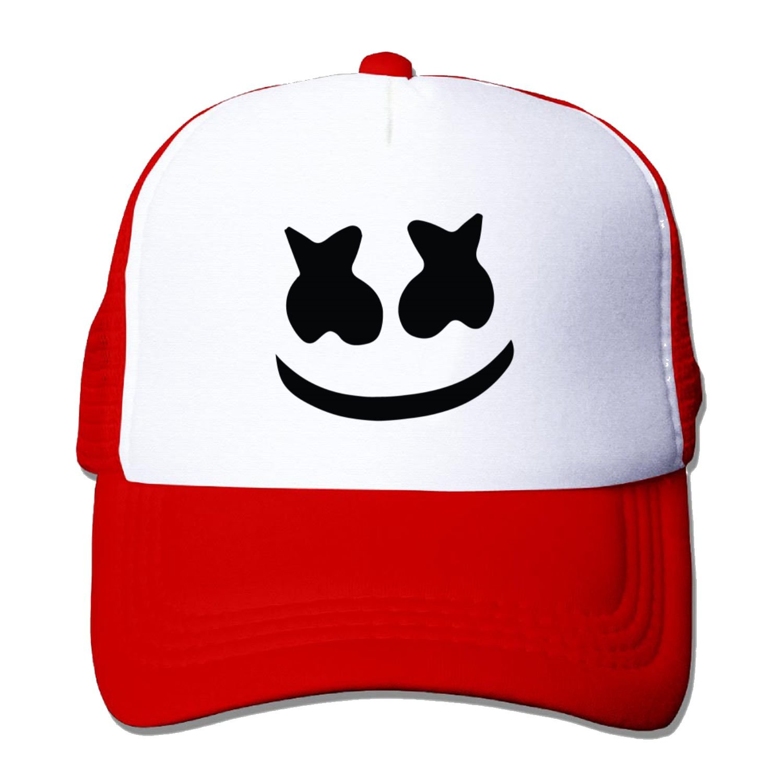 Unisex mesh Baseball Cap Marshmello face Trucker Hat (5 Colours) B-Mamamoo