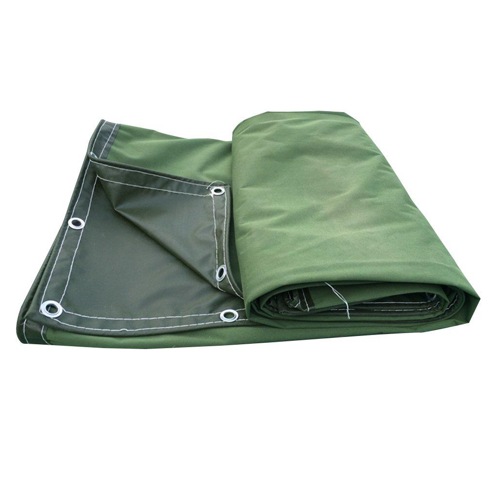 PENGFEI キャンバス オーニング 防水 雨布 ピクニックマット 貨物 防塵の シェード 工場 日焼け止め 断熱、 濃い緑色、 -600g / m2、 8サイズのオプション ( サイズ さいず : 3 x 4m ) B07BTL593W 3 x 4m  3 x 4m
