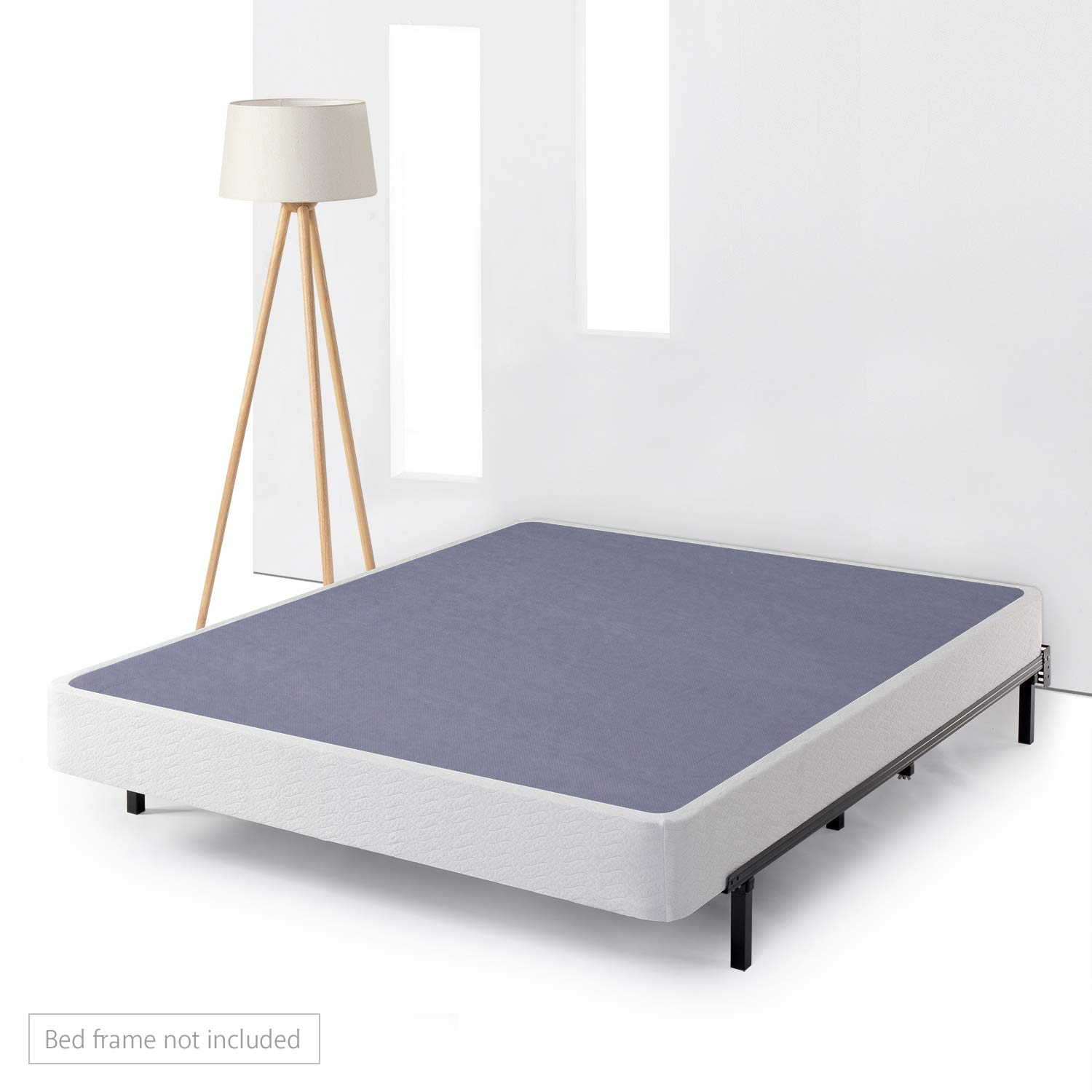 Best Price Mattress Heavy Duty Steel Low Profile Box Spring/Mattress Foundation/Easy Assembly - 7 Inch, King, Navy/White