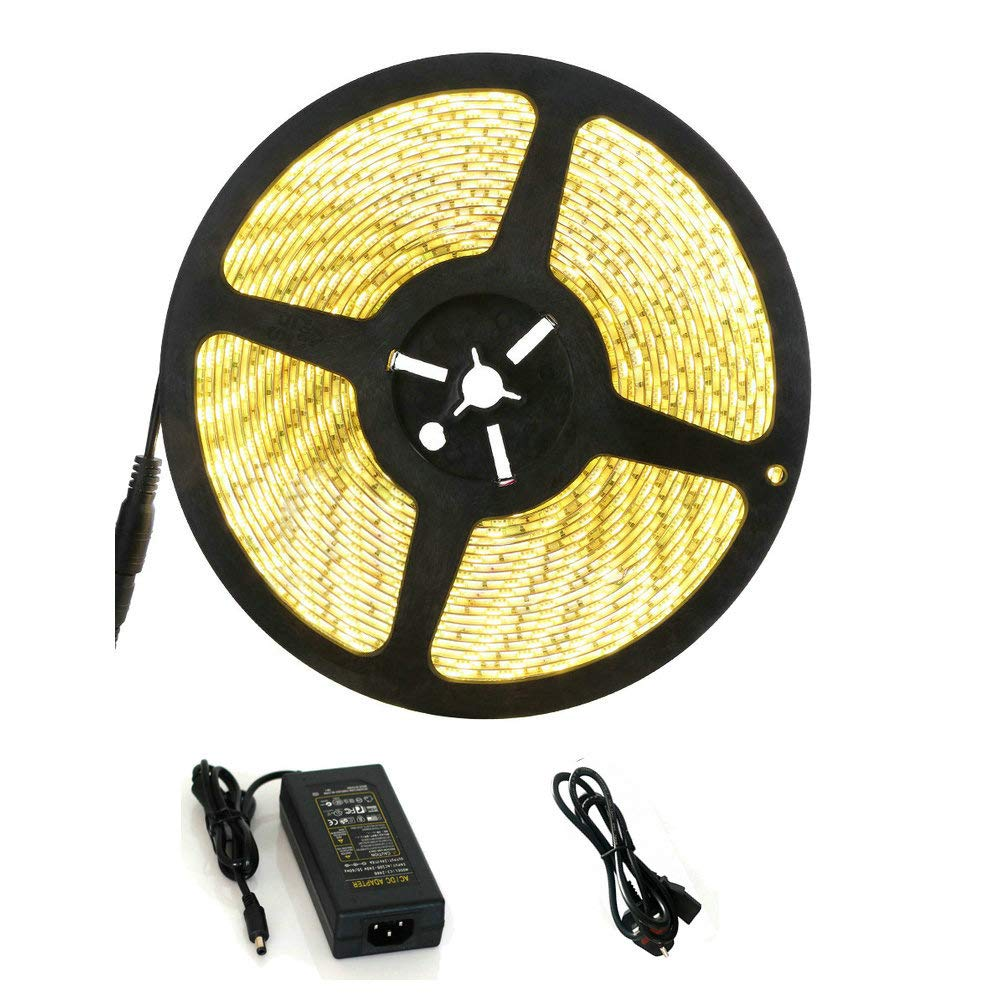 (32.8ft)10m LED Strip Lighting Kits Guaiboshi SMD 5050 RGB Led Strip Light Full Kit with 44 Keys Remote Control Mood Light Strip for Home Caravan Decoration [Energy Class A+]