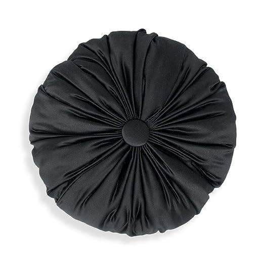 Declea Cojín Redondo Negro Ideal para sofá Cama y sillones ...