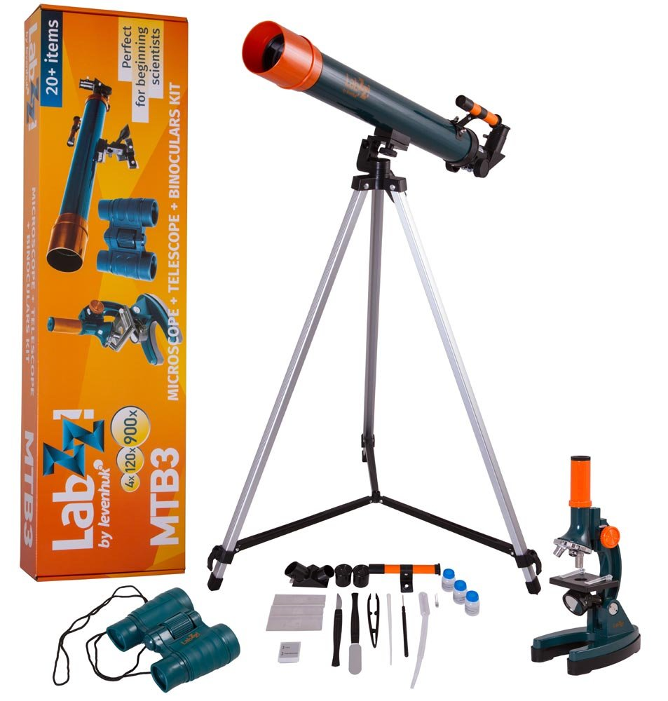 Levenhuk LabZZ MTB3 Microscope & Telescope & Binoculars Kit Inc. 69698