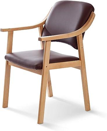 sillas polipiel color crema madera