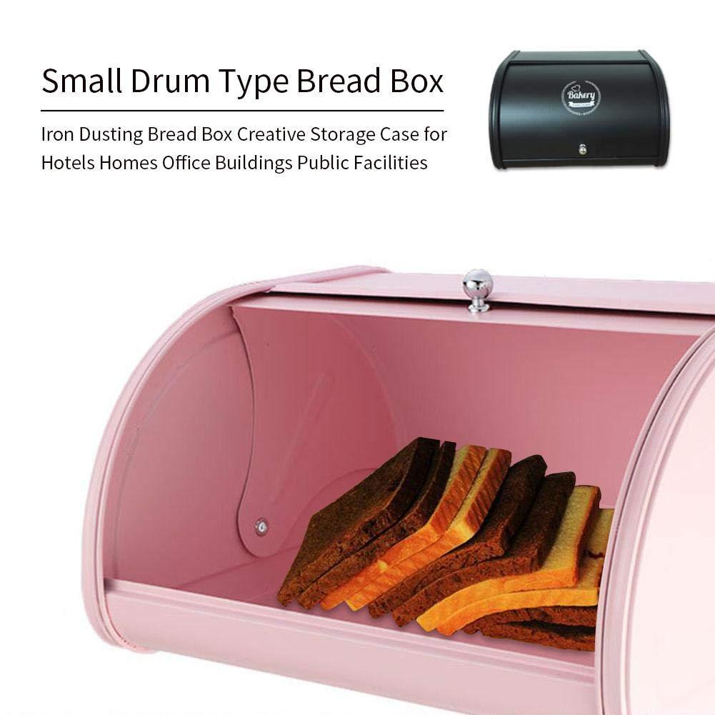 31x27x17.5CM arthomer Caja de Pan Caja de Pan de Rollo de Metal para Pan Rollos Bagels Muffins