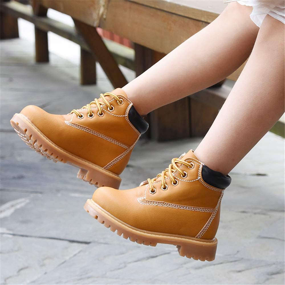 CHENSF Baby Kids Boots Girl Boy Shoes Hiking Winter Snow Booties