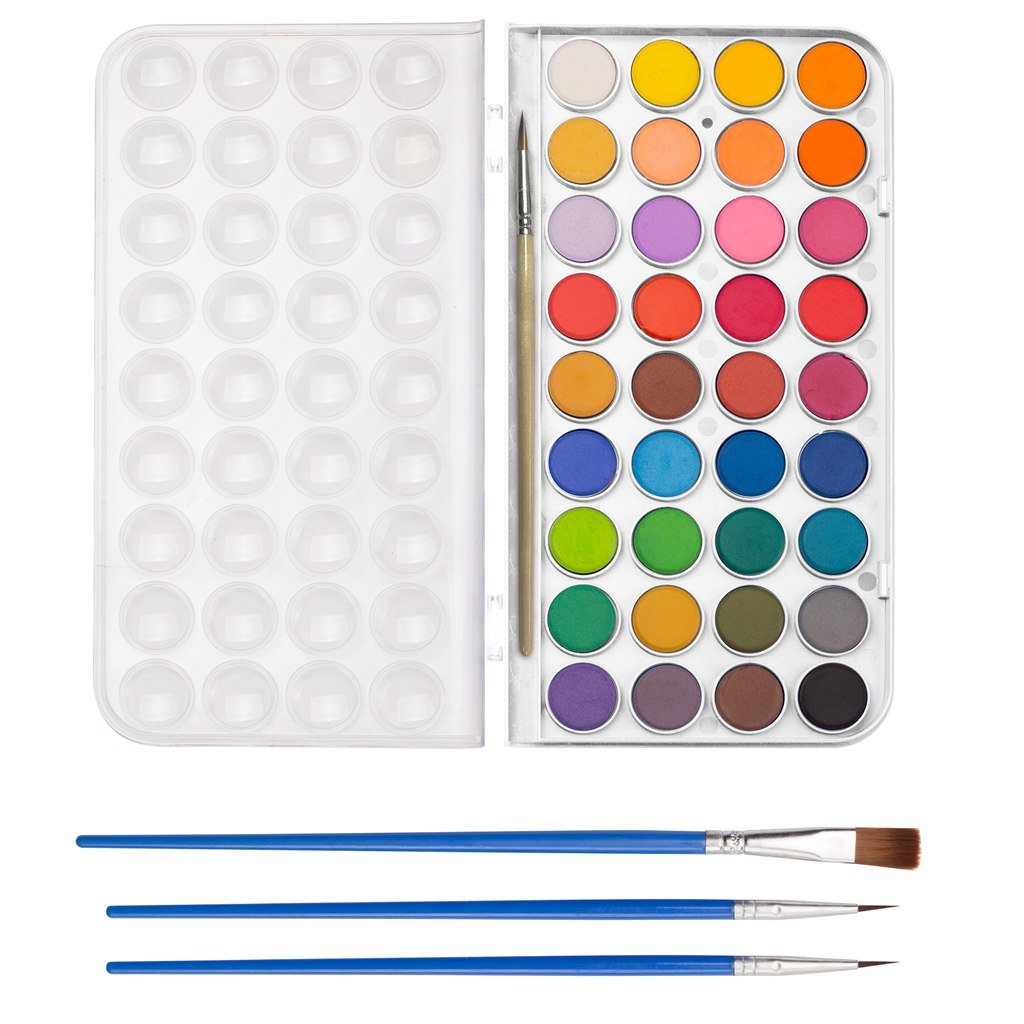 36 Watercolor Pan Set, Smart Color Art Watercolor Paint Set with 4 Brushes,Easy to Blend Colors, Perfect for Kids Adults by Smart Color Art (Image #7)