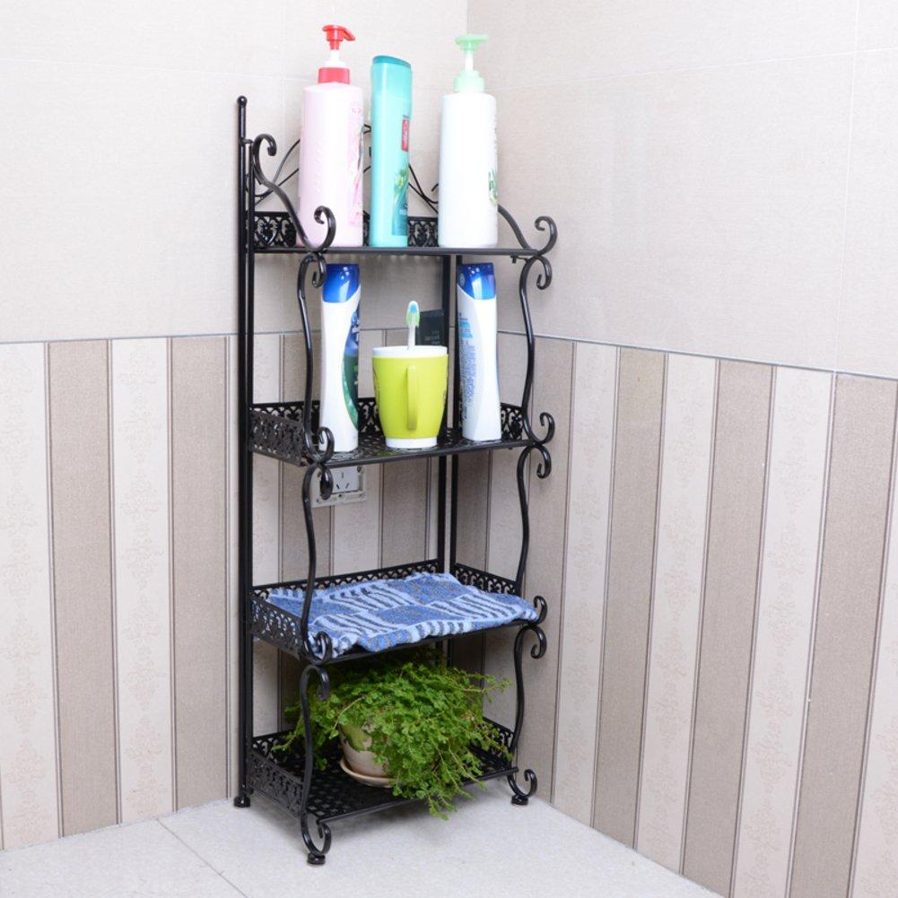 new Bathroom Bathroom Storage rack/bathroom/iron floor stand/four-tier bathroom corner rack/Bathroom racks-C