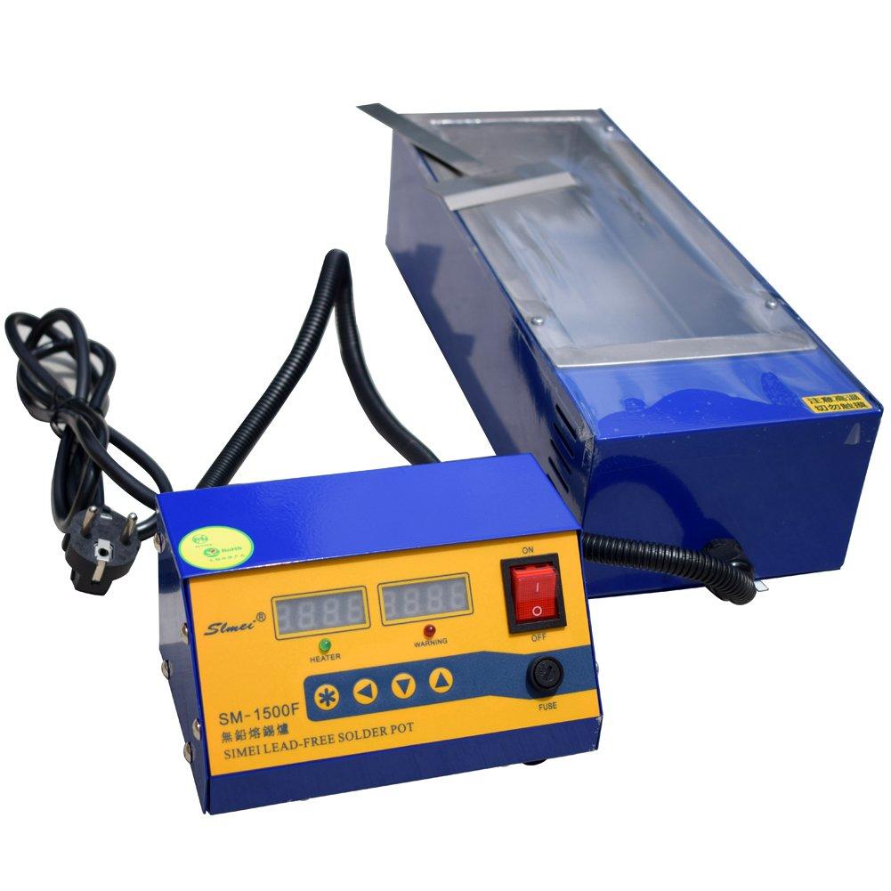 Lead-Free Titanium Alloy Solder Soldering Pot Desoldering Bath 1500W 220V US power plug with free heating element