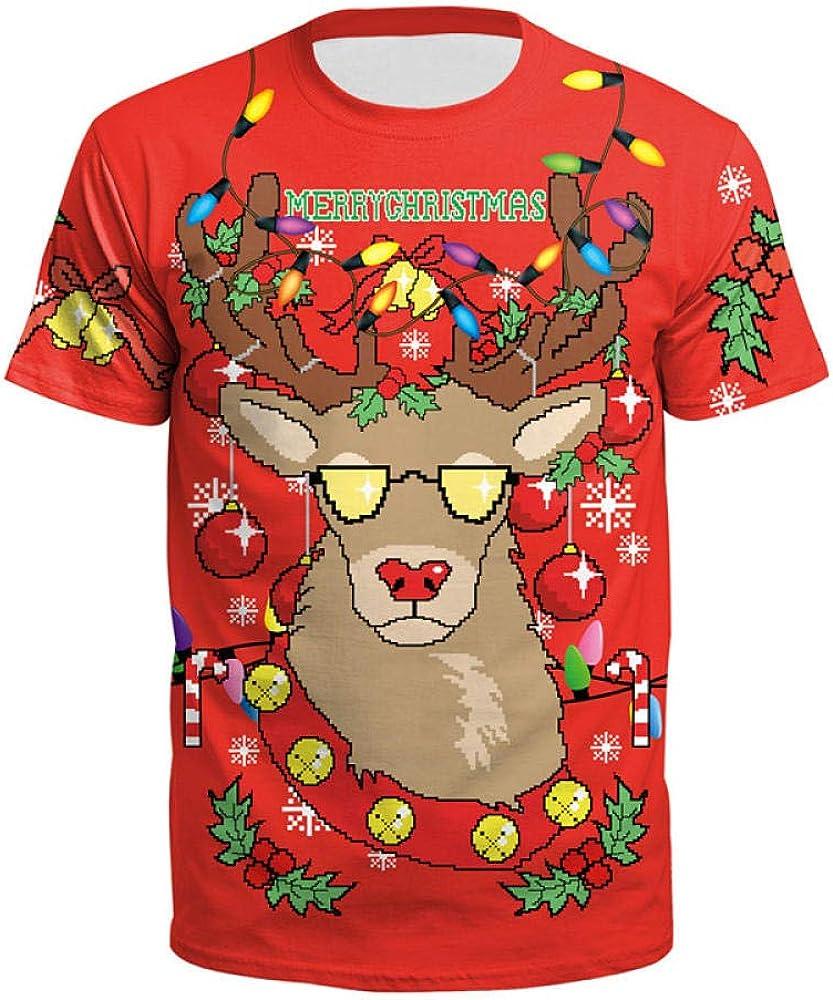 2019 Camiseta FEA de Navidad para Mujeres Europeas y Americanas Camiseta Estampada de Santa Claus con Estampado Holgado Camiseta para Hombres y Mujeres: Amazon.es: Ropa y accesorios