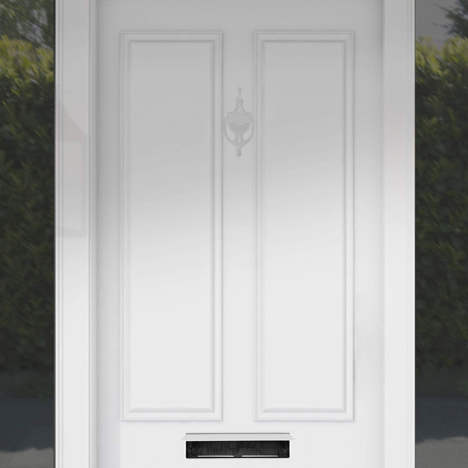 SEQUAL 12 Inch White Letterplate Anti Vandal Letter Box Flap Aluminium Letter Box Door Furniture External Letter Box Draught Excluder with Internal Water Seal to Prevent Water Damage
