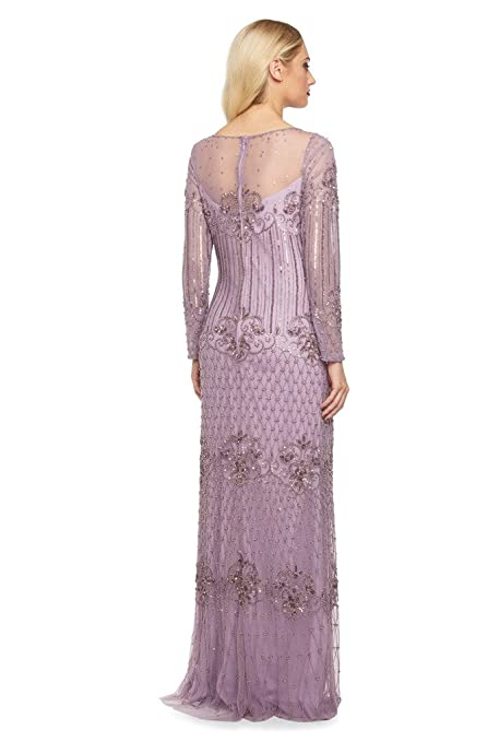 gatsbylady london Dolores Maxi Flapper Prom Dress in Lavender - Quality Handmade Wedding Dresses for Women at Amazon Womens Clothing store: