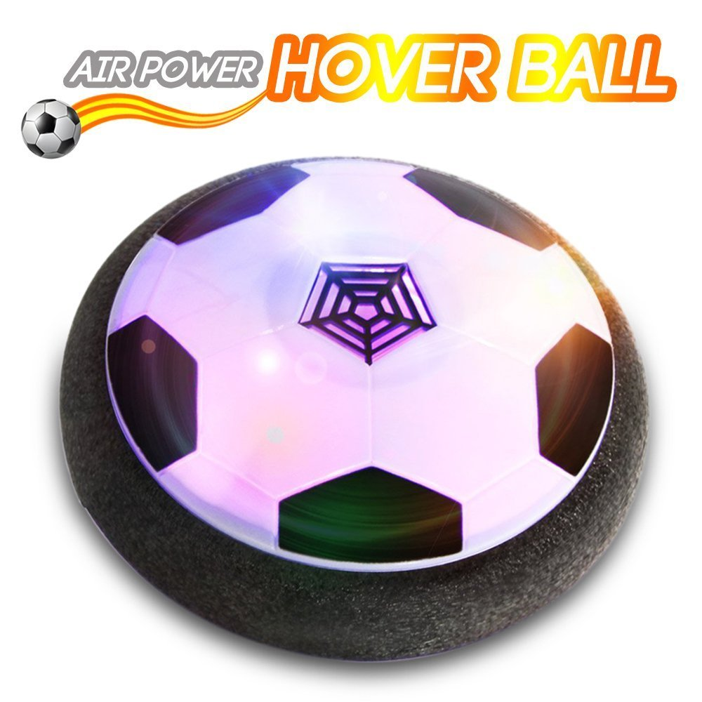 togyoo子供用玩具、Hoverサッカーボール、ホッケーFootball 2イン1フローティングディスクReinforcedバッテリカバー、Miniドライバー、Foamバンパーと無限変更カラフルなLEDライト屋内またはチームの B07BGWB92R