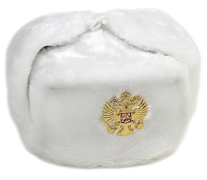 de31182fa8ed3 Image Unavailable. Image not available for. Color  Russian Army KGB Cossack Military  Fur Hat Ushanka w Imperial ...