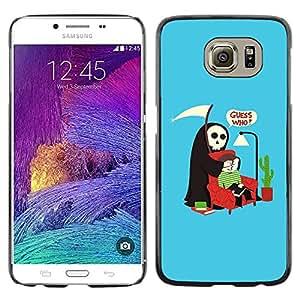 TopCaseStore / la caja del caucho duro de la cubierta de protección de la piel - Funny Guess Who Grim Reaper - Samsung Galaxy S6 SM-G920