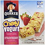 quaker yogurt chewy granola bars - Quaker Chewy Yogurt Granola Bars, Strawberry, 6.1 oz