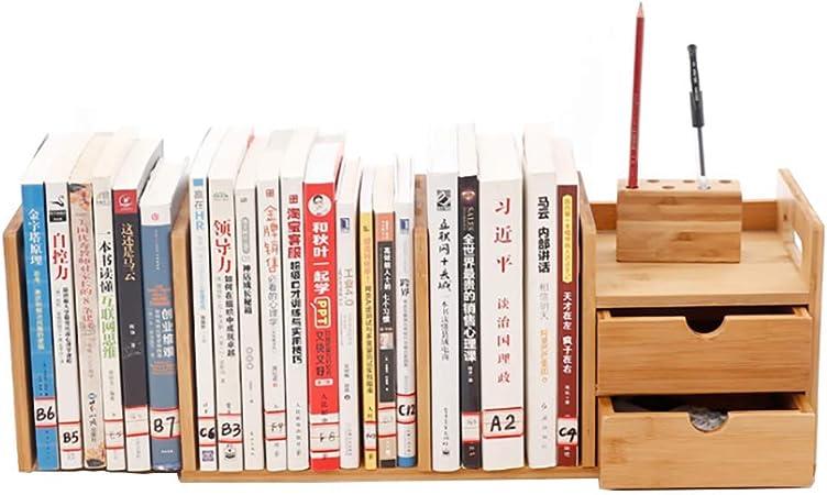 SHGK Librería Escritorio Estantería Madera Bambú Estantería ...