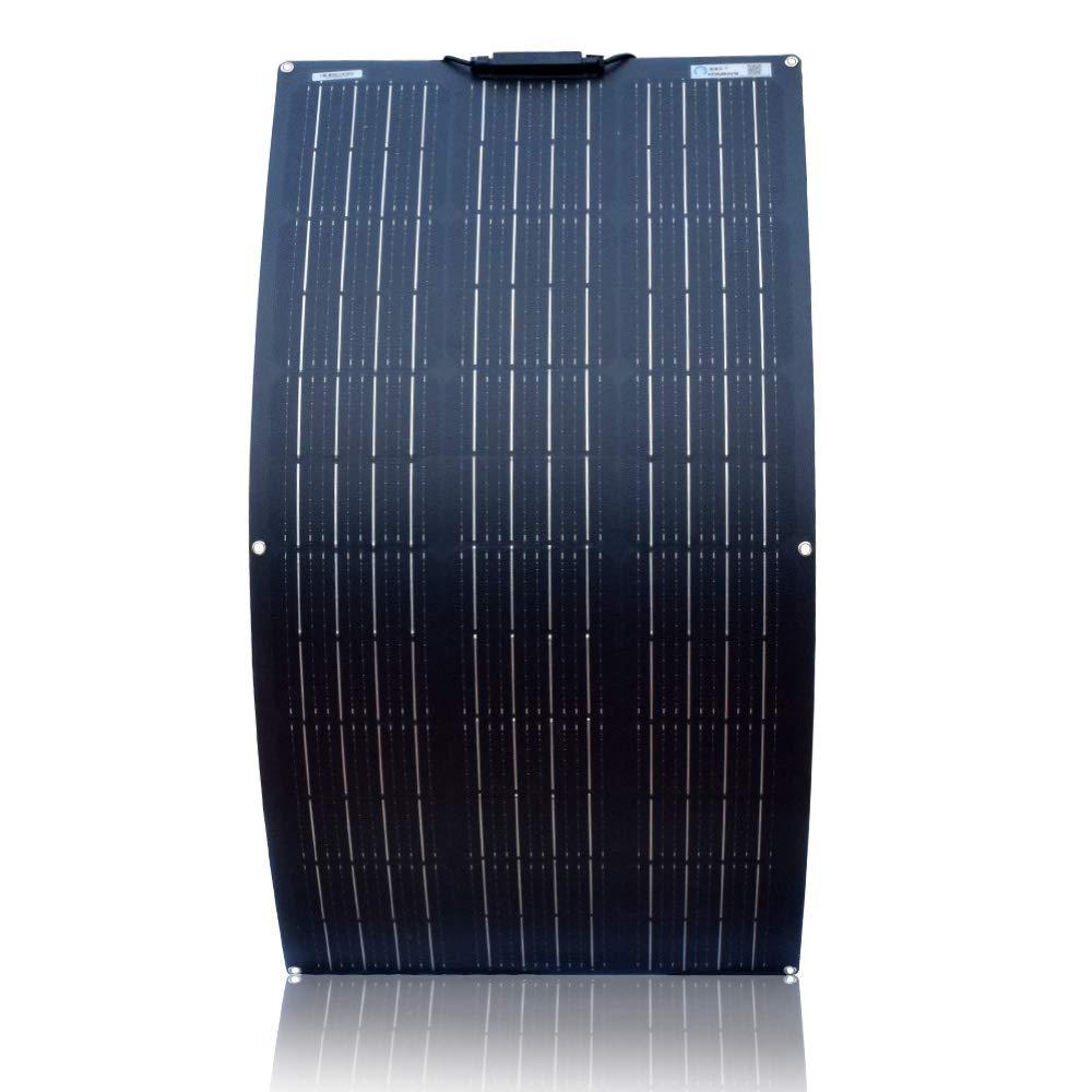 XINPUGUANG Panel solar flexible de 100w 12v Módulo monocristalino para autocaravana autocaravana (Black)