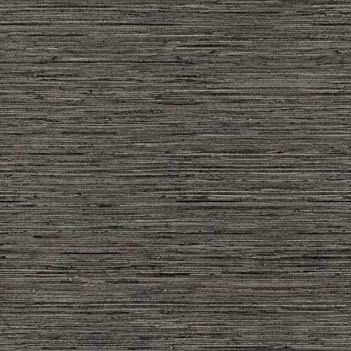 RoomMates Grasscloth Grey Peel and Stick Wallpaper