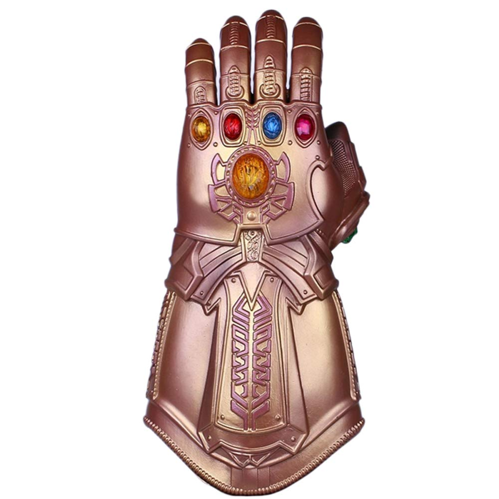 QQWE The Avengers Thanos Infinity Gloves Marvel Juegos De Películas Props Cosplay Hand Latex Gloves,PVC-OneSize