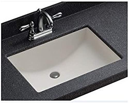 Swanstone UCO1913.010 White Contour Undermount Bathroom Sink, 19 x 13