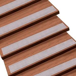 Queta - Juego de alfombrillas antideslizantes para escaleras, transparentes, antideslizantes, antideslizantes (15 unidades, 10 x 60 cm): Amazon.es: Bricolaje y herramientas