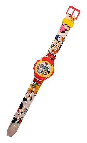 Reloj digital de muñeca, diseño de MICKEY MOUSE con fecha y hora correa de caucho con WD10404. MWS pantalla: Amazon.es: Relojes