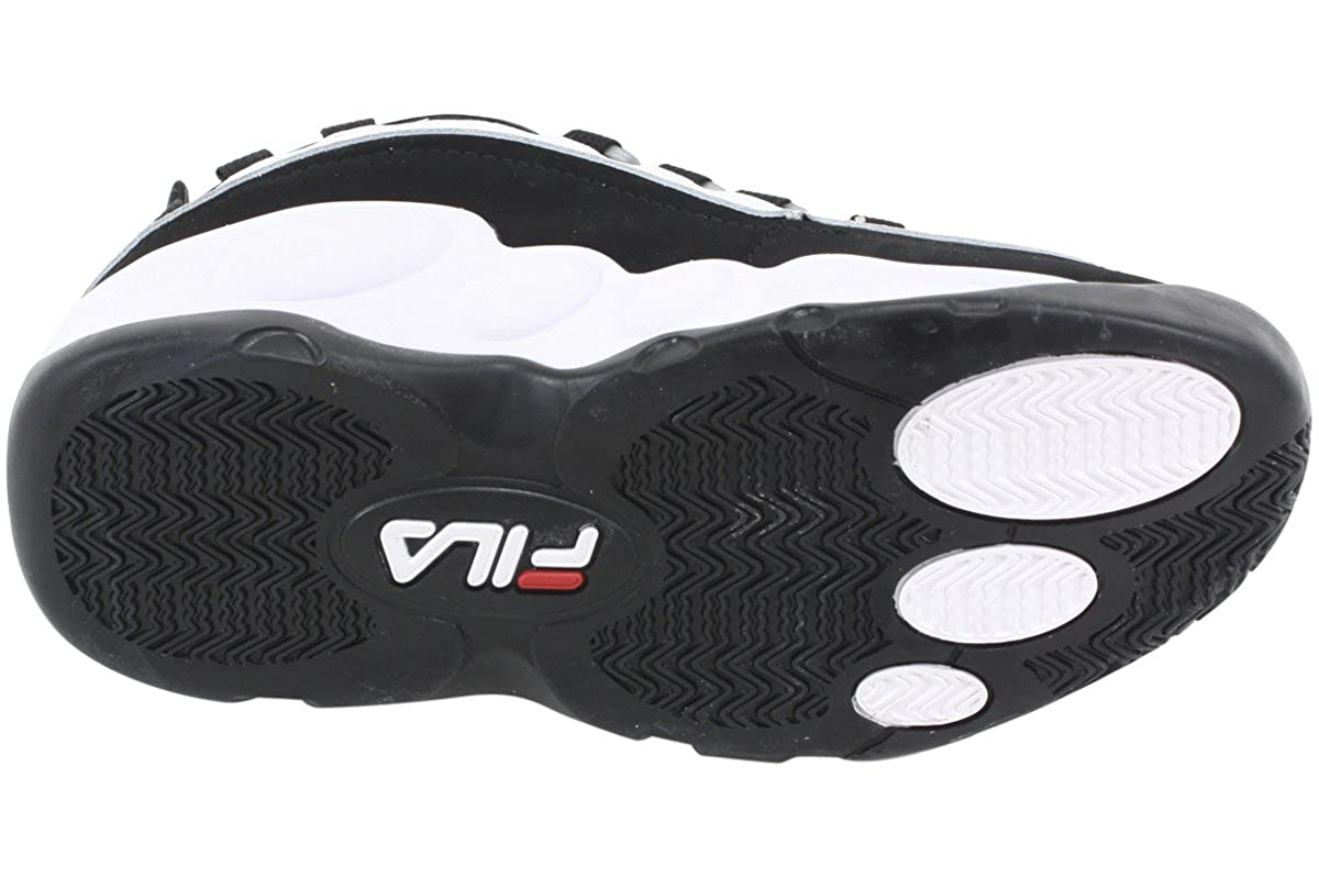 Amazon.com | Fila Mens Bubbles Hightop White/Black/Red Basketball Shoes | Basketball