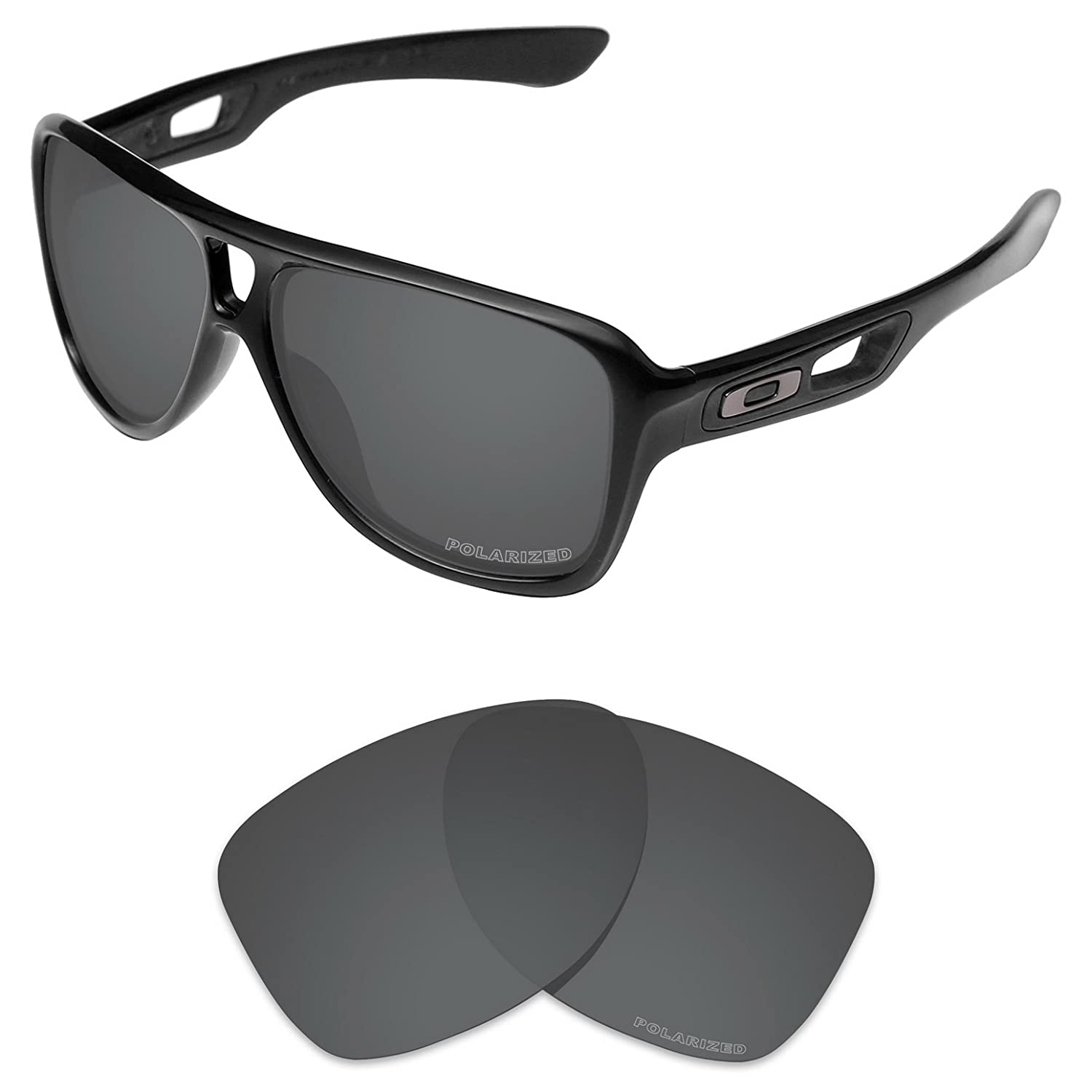 54adaf7d51 Amazon.com  Tintart Performance Lenses Compatible with Oakley Dispatch 2 Polarized  Etched-Carbon Black  Clothing