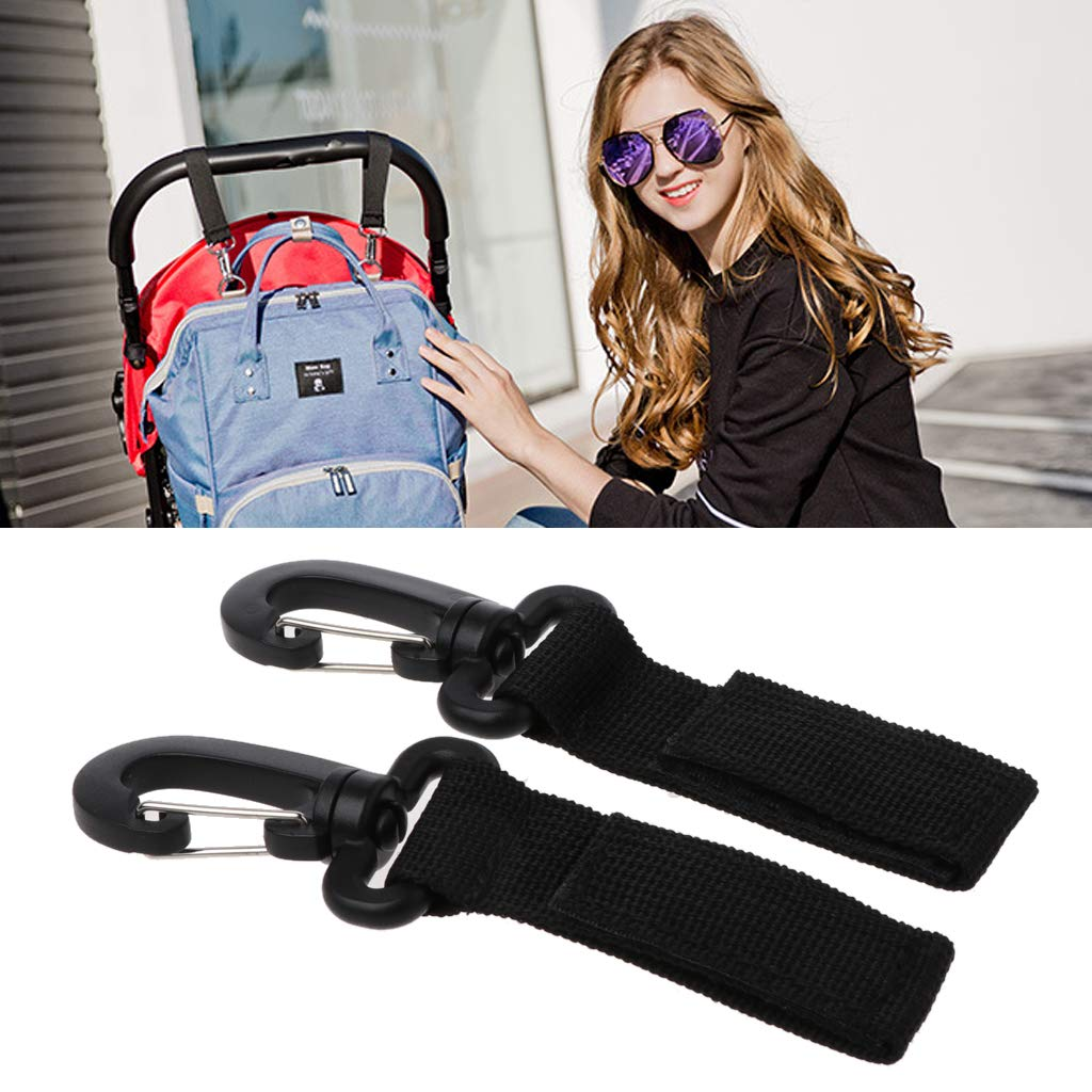 Universal Stroller Cup Holder with 2 Hanger Hooks for Pushchair Pram Wheelchair