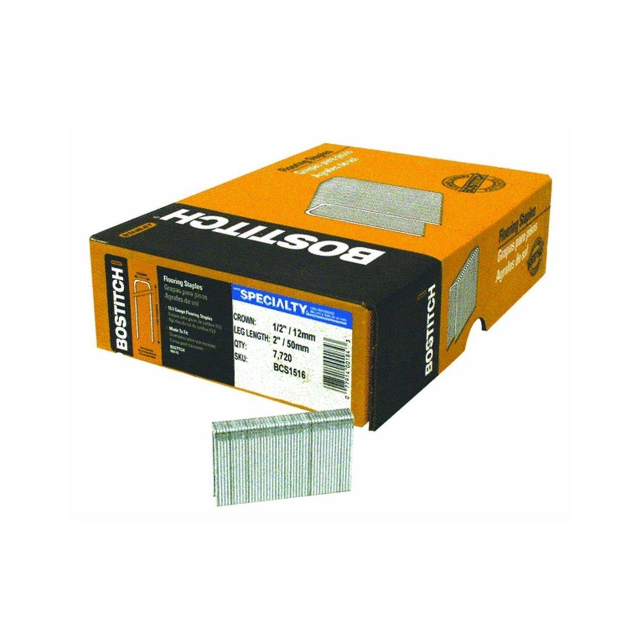 Bostitch BCS1516 2'' Leg 15-1/2-Gauge 1/2'' Crown Hardwood Flooring Staples - 7720 per Package by BOSTITCH
