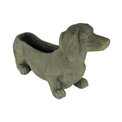 Grey Dachshund Dog Indoor/Outdoor Planter : Garden & Outdoor