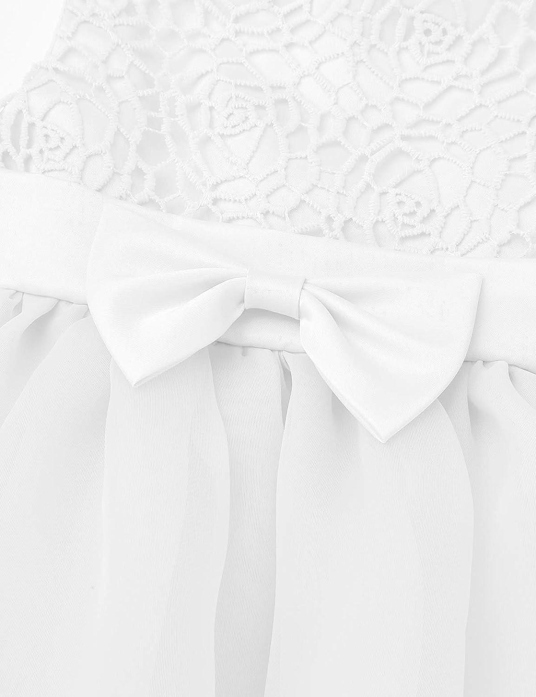 iixpin Baby-M/ädchen S/ü/ß Partykleid Prinzessin /Ärmellos Kleider Blumenm/ädchenkleid Taufkleid f/ür Hochzeit Festzug Party Geburtstag