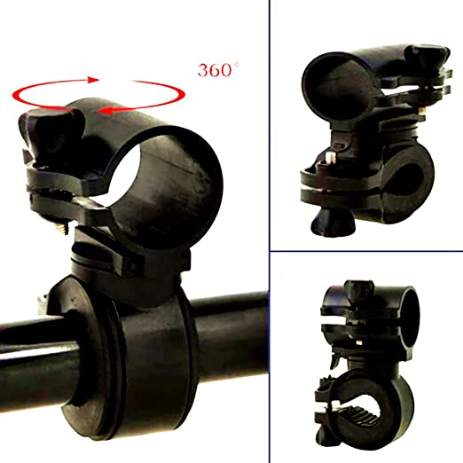Torch Clip Mount Bicycle Front Light Bracket Flashlight Holder 360°Rotation