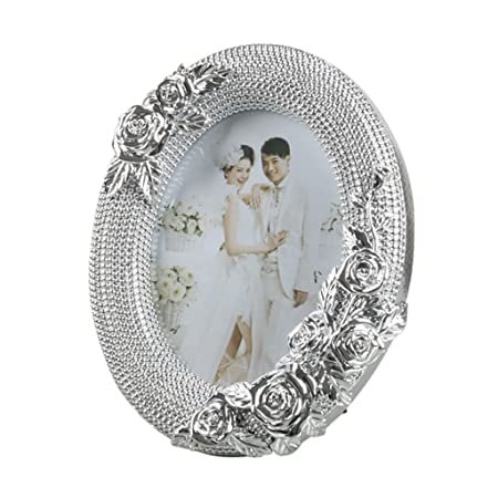 SESO UK American Simple Design Picture Photo Frame Classic Wedding Life Oval Resin Decorative Frames