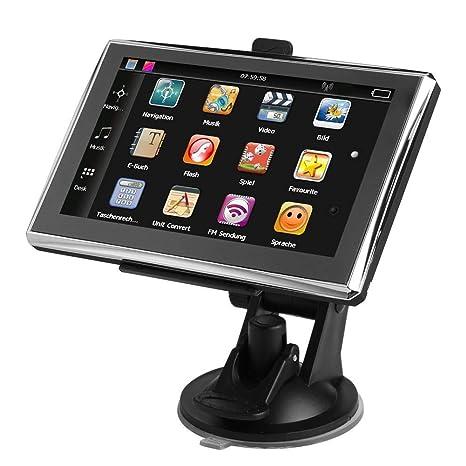 Childplaymate 5 Pulgadas Android Pantalla Coche GPS Navegador FM Navegación 8 GB Satnov con Mapa