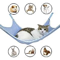 Winnsty Cat Hammock Summer Breathable Mesh Pet Hammock Bed, Under Chair Hammock Cradle Crib for Small Animals