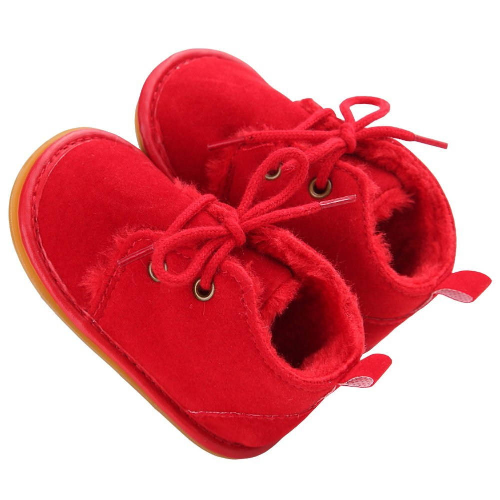 M/&A Baby Boys Girls Prewalker Winter Warm Plush Shoes