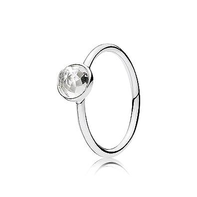 e135073b26fed PANDORA Ring 191012RC-54 Woman Silver Crystal Rock