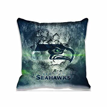 Best Seahawks Throw Pillow Case sport Cushion Cover Unique Design Pillowcase Cotton Throw Pillowcase